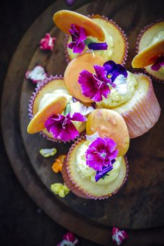 passion fruit cupcakes with passion fruit swiss meringue buttercream