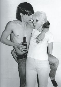 Debbie Harry and Iggy Pop, Toronto, Canada. By Bob Gruen, 1977.
