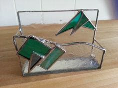 Vintage Stained Glass Business Card Holder by MyYiayiaHadThat, $20.00
