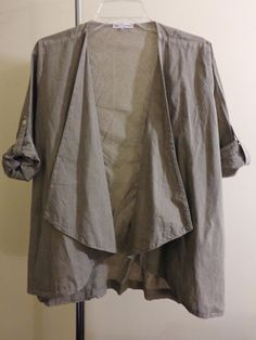 James Perse jacket lagenlook top artsy art to wear artist draped sz 2 M L #JamesPerse #BasicJacket