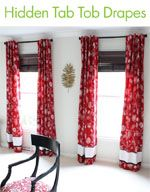 Tutorial for Fully Lined Tab-Top Drapes