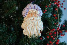 Woodcarving carved Santa handcarved Santa by WasatchWoodcarver