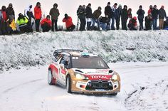Mikko Hirvonen of Finland and Jarmo Lehtinen of Finland compete in their Citroen Total Abu Dhabi WRT Citroen DS3 WRC during the Shakedown of the WRC Monte-Carlo on January 15, 2013 in Valence , France.