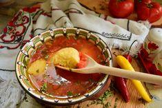 Ciorbă de roșii cu găluște de griș - Rețete Fel de Fel Soup, Soups
