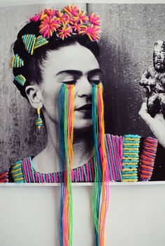 38 ideas for picture collage art diy Collage Kunst, Art Du Collage, Collage Photo, Collage Artists, Embroidery Art, Embroidery Designs, Pop Art, Frida Art, Frida Kahlo Artwork