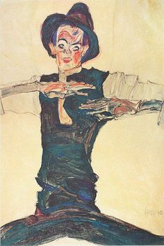 Egon Schiele - Self-portrait, 1910