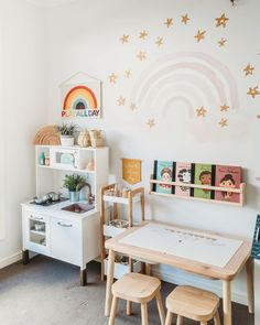 Toddler Playroom, Toddler Rooms, Ikea Kids Playroom, Playroom Design, Playroom Decor, Baby Bedroom, Kids Bedroom, Ideas Habitaciones, Toy Rooms