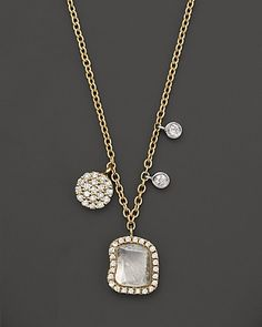 Meira T 14K Yellow Gold Rough Diamond Pendant Necklace, 16"