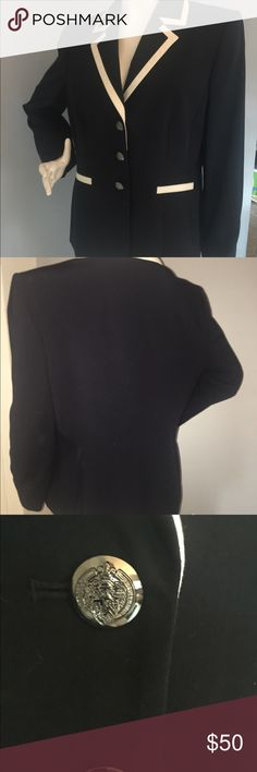 Women's Blazer Classic Navy Blazer, never goes out of style.   Perfect for work or with a pair of jeans!  Never worn! Preston & York Jackets & Coats Blazers