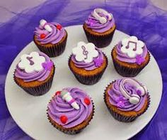 Cupcake de violeta