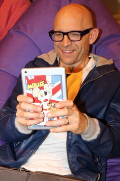 The Gadget Man himself with one of our new Danger Mouse Stickems