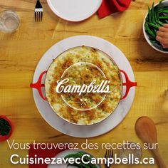 Macaroni au fromage et bacon - Cuisinez avec Campbells Frugal Meals, Easy Meals, Campbells Soup Recipes, My Favorite Food, Favorite Recipes, Snack Recipes, Cooking Recipes, Cooking Videos, Bacon Mac And Cheese