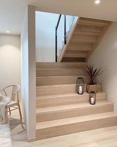 This newly built Nordic home of had caught our attention recently this year due to its simplicity in interior design and… Home Stairs Design, Interior Stairs, Home Design Decor, Home Interior Design, House Design, Home Decor, Loft Design, Design Interiors, Nordic Home