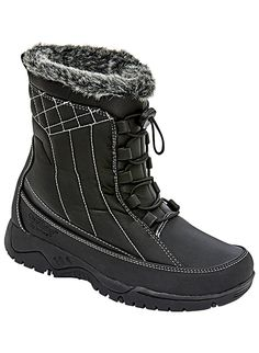Chromatics by totes Eve Winter Boot >>> See this awesome image : Winter Shoes Snow Boots Women, Faux Fur Collar, Cool Boots, Winter Shoes, Black Boots, Mens Fashion, Heels, Eve, Totes