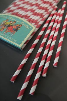 25 Paper Party Straws