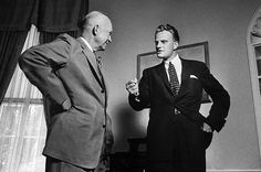 This is President Eisenhower talking about communism with the very young Rev. Graham.