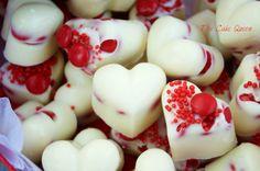 The Cake Queen: Bombones de chocolate blanco con mini Lacasitos. Reto San Valentín