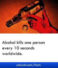 Alcohol Kills One Person Every 10 Seconds Worldwide - Shocking Alcohol Facts