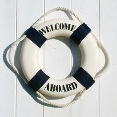 If you want to go full on nautical, this life ring is just the ticket