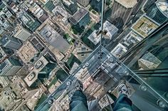 The Ledge at Willis Tower by Jeff Lewis on Capture My Chicago // The Ledge at Willis Tower.  This is a Chicago must do.