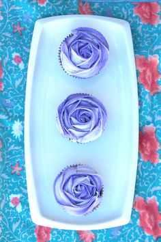 Purple Rose Cupcakes  (submitted by penguinsandcupcakes)