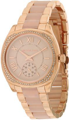 Michael Kors Bryn Rose Gold-Tone Ladies Watch MK6135