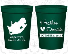 South Africa Wedding Cups, South Africa Wedding, Cheap Beer Cups, Destination Wedding, Wedding Cups, Capetown Cups (191)
