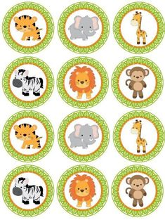 Excited to share the latest addition to my shop: SAFARI Digital cupcake Topper; Jungle Animal Cupcake Toppers for Parties; Safari Cupcakes, Animal Cupcakes, Fondant Cupcakes, Ladybug Cupcakes, Kitty Cupcakes, Snowman Cupcakes, Giant Cupcakes, Safari Party, Safari Theme