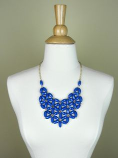 Blue Beaded Statement Necklace - $25.00 : FashionCupcake, Designer Clothing, Accessories, and Gifts