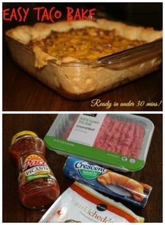 Taco Bake - Easy Family Meal on Having Fun Saving and Cooking.
