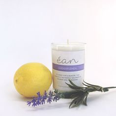 Lavender Lemon Candle  Phthalate Free  GMO Free Soy Wax by shopean