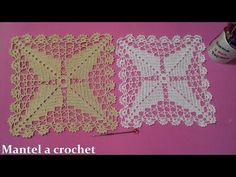 Cuadrado ESTRELLA POPCORN a crochet paso a paso para colchas y cojines - YouTube