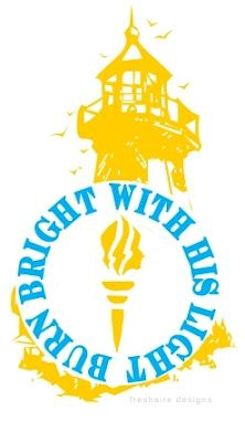 PERFECT girls camp theme: Burn Bright with His Light. This blog is complete with printables, service project ideas, activities, games, crafts, lessons...everything!
