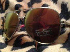 Jessica Simpson Oval sunglasses Gold