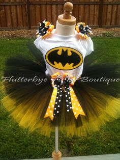 Miss Bat Batman TuTu Set by flutterbyetutu on Etsy, $46.50