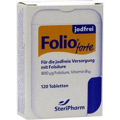 FOLIO forte jodfrei Filmtabletten:   Packungsinhalt: 120 St Filmtabletten PZN: 03015864 Hersteller: SteriPharm Pharmazeutische Produkte…
