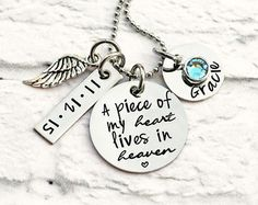 Personalized Memorial Necklace A Piece of My by RoseCreekToo