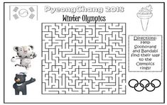 Your students will love solving this maze to help Soohorang and Bandabi (the 2018 Olympics and Paralympics mascots) find the Olympic rings. This makes a great activity as a reward for early finishers of other work, substitute plans, or a fun homework assignment.