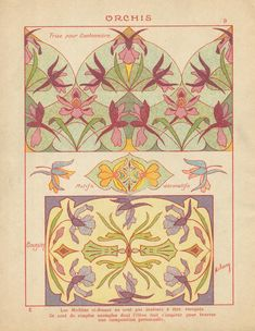 Art Nouveau Pattern, Art Nouveau Design, Botanical Illustration, Illustration Art, Street Art, Textile Pattern Design, Art For Art Sake, Illustrations, Technical Drawing