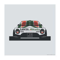 Remove-Before Limited Edition Classic Car Print - Lancia Stratos Car Artwork