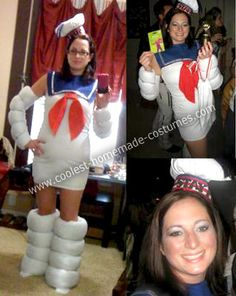 Homemade Stay Puft Marshmallow Man Costume: This year my friends and I were determined to win the group costume contest in an annual party that grows every year. Since it is the 25th anniversary