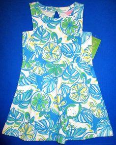 LILLY PULITZER Small 4 5 Girls JEN Resort White SWEET & SOUR Knit Dress NWT S #LillyPulitzer #DressyEveryday