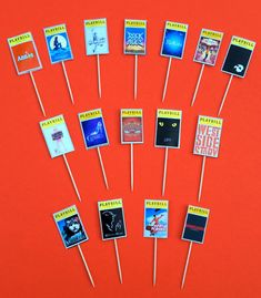 Broadway Playbill Centerpieces are the perfect touch to a Broadway themed Party, Bar Mitzvah, The Tonys or anytime.  This listing is for ONE