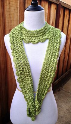 Hey, I found this really awesome Etsy listing at https://www.etsy.com/listing/183743892/scallop-edge-scarf-pistachio-scallop