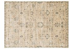 """5'x7'6"""" Zinder Rug, Sand/Charcoal 