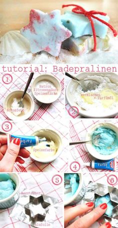 DIY Badepralinen in Sternform Diy Xmas Gifts, Diy Presents, Belleza Diy, Xmax, Idee Diy, Diy Spa, Hacks Diy, Artisanal, Diy Beauty