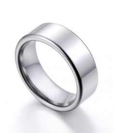 7MM Flat Shiny Tungsten Carbide Wedding Band for Men and Women - Tungsten Rings