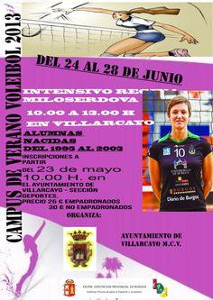 24-28 Junio Intensivo Voleibol. Villarcayo De 10h a 13h Nacidos entre 1995-2003 Inscripciones desde el 23/05