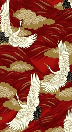tissu japonais There is something about a crane x Japanese Textiles, Japanese Patterns, Japanese Fabric, Japanese Prints, Japanese Design, Japanese Crane, Japanese Kimono, Art And Illustration, Textile Patterns