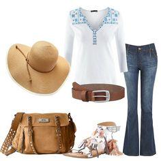 6c788370f9 Jeans Boot Cut a primavera: outfit donna Ethnic per tutti i giorni   Bantoa
